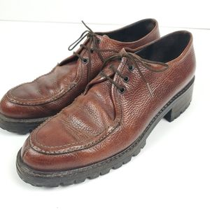 Vintage Cole Haan brown loafers, 8AA dbl narrow